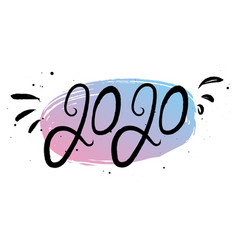 new year 2020 calligraphy phrase vector image
