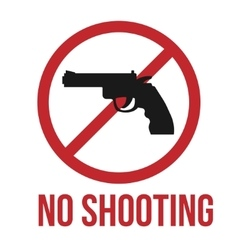 No shooting icon vector