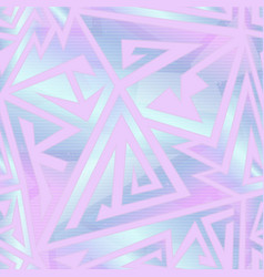 pastel color geometric seamless pattern vector image