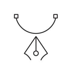 Pen tool icon black semicircle vector
