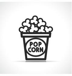 popcorn symbol icon design vector image