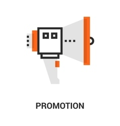 Promotion icon concept vector