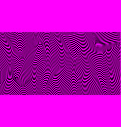 psychedelic lines stripes pattern wavy texture vector image