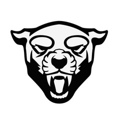 puma head sign design element for sport team logo vector image