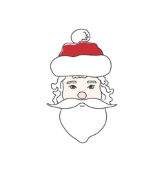 Santa Claus Face Isolated on White vector image