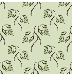 seamless pattern with hop vector image