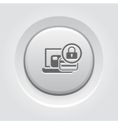 Secure Payment Icon Grey Button Design vector
