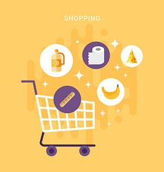 Shopping and Sale Concept Flat Style and Icons vector image