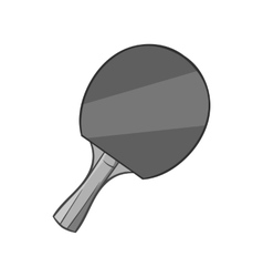 Table tennis racket icon black monochrome style vector