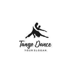 tango dance logo vector image