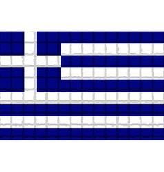 The mosaic flag of Greece vector