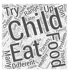 Training the fussy eater word cloud concept vector