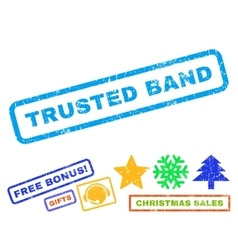 Trusted Band Rubber Stamp vector image