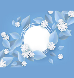 winter natural banner for vector image