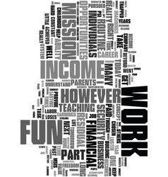 Work can be fun text word cloud concept vector