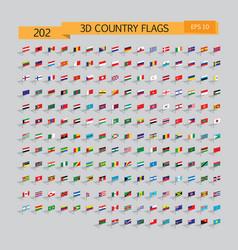 World 3d flags set 10eps vector