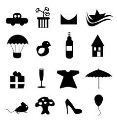 icon design set vector image