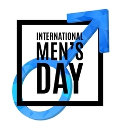 International men s day poster vector image vector image