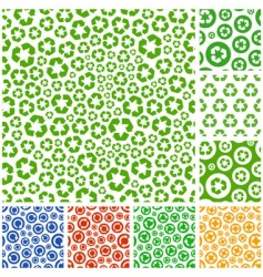 recycle pattern vector image vector image