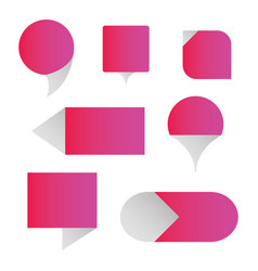 set of speech bouble vector image