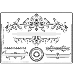 Decorative ornament border vector image vector image