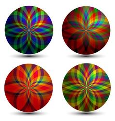 geometric bubbles vector image vector image