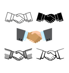 handshake business partnership agreement vector image