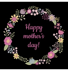 happy mothers day on black bc vector image vector image