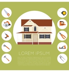 Home tools banner vector image