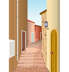 house colony with staircase passage vector image vector image