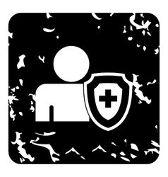 Medical insurance concept icon simple style vector image vector image