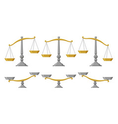 scales set with different balances vector image