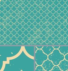 Vintage Aqua Worn Seamless Pattern Background vector image vector image