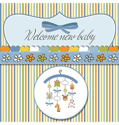 welcome baby announcement card vector image