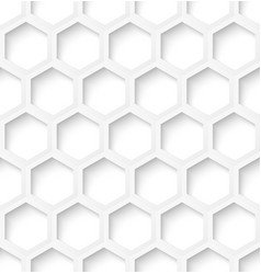 White paper hexagon seamless pattern background vector image