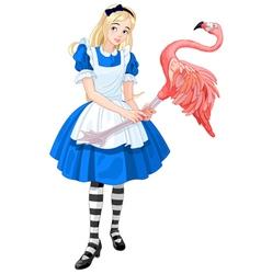 Alice plays croquet vector