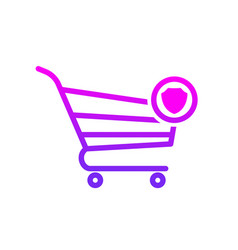 buy cart protect secure shop store icon vector image