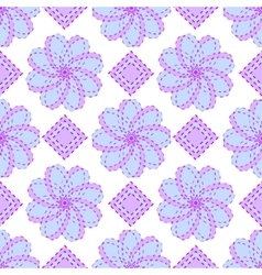 Geometric blue floral pattern vector image