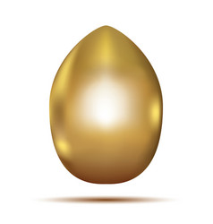 golden egg isolated on white background vector image vector image