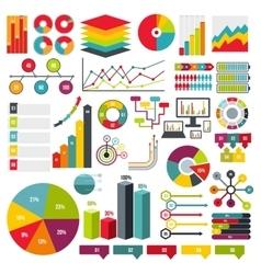 Infographics elements set flat vector image vector image