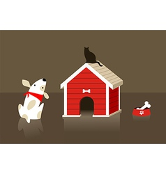 The dog and cat relation vector image