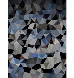 Dark blue and black triangles background vector image