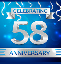 fifty eight years anniversary celebration design vector image vector image