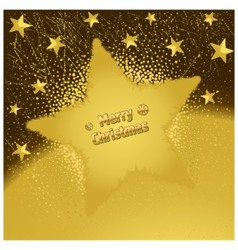 Gold Christmas Star vector image