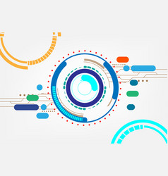 abstract color technology circles vector image