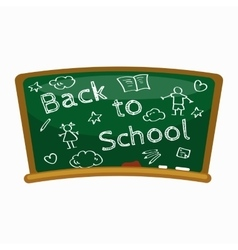 Back to school background blackboard for back to vector image vector image