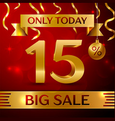 Big sale fifteen percent for discount vector