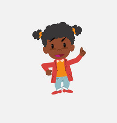 Black girl talking very determined and optimistic vector