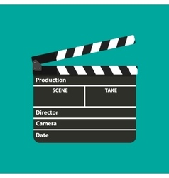 Black opened clapperboard Movie clapper board vector