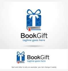 Book gift logo template design vector